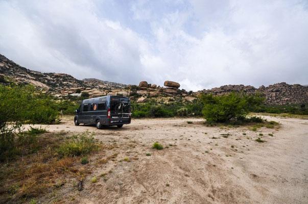 happy campen an der Happy Camp Road - und erst noch gratis