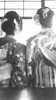 下呂温泉合掌村の和服姿de散策