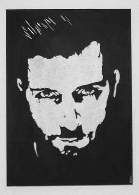 PORTRAIT OF MEN NO 2  Acrylpainting on canvas, ca. 50 x 70 cm