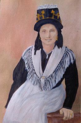 ELISE  Oilpainting on canvas grain, ca. 21 x 29 cm