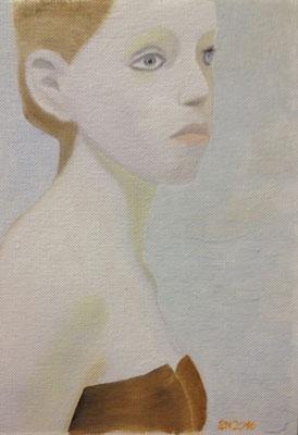 CARD NO 2  Oilpainting on canvas grain, ca. 10 x 15 cm