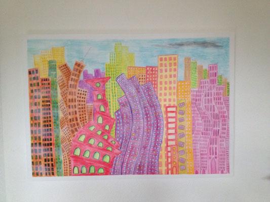 VISP 2050  Acrylpainting on canvas, ca. 80 x 120 cm