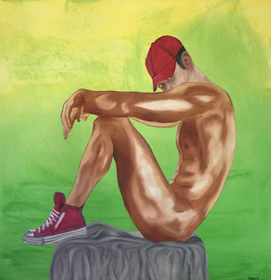RED CHUCKS  Oilpainting on canvas, ca. 70 x 70 cm