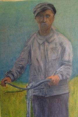 JULIUS  Oilpainting on canvas grain, ca. 21 x 29 cm