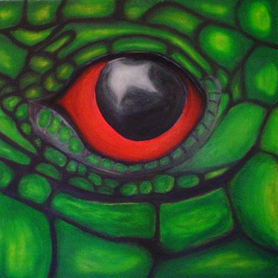 SNAKE EYE  Oilpainting on canvas, ca. 70 x 70 cm