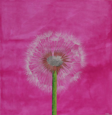 DANDELION  Acrylpainting on canvas, ca. 100 x 100 cm