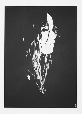 PORTRAIT OF WOMAN NO 2  Acrylpainting on canvas, ca. 50 x 70 cm