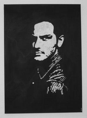 PORTRAIT OF MEN NO 5  Acrylpainting on canvas, ca. 50 x 70 cm