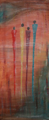 MANGINI  Acrylpainting on canvas, ca. 50 x 110 cm