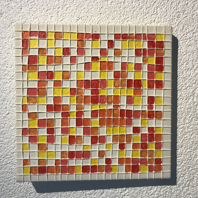 SQUARES  Mixed media on canvas, ca. 20 x 20 cm
