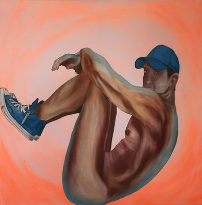BLUE CHUCKS  Oilpainting on canvas, ca. 70 x 70 cm