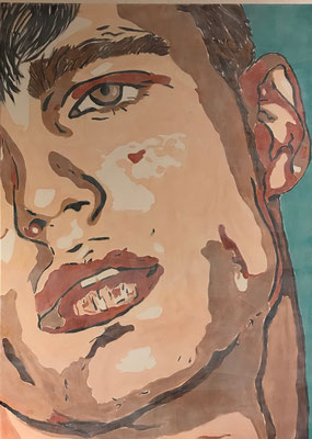 FACE COLOURS NO 1  Acrylpainting on canvas, ca. 100 x 140 cm