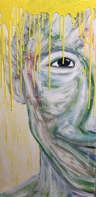 ABSTRACT PORTRAIT NO 1  Acrylpainting on canvas, ca. 40 x 80 cm