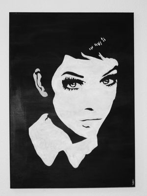 PORTRAIT OF WOMAN NO 1  Acrylpainting on canvas, ca. 50 x 70 cm