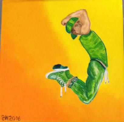 DANCE 1  Oilpainting on canvas, ca. 15 x 15 cm