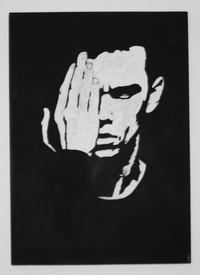 PORTRAIT OF MEN NO 6  Acrylpainting on canvas, ca. 50 x 70 cm