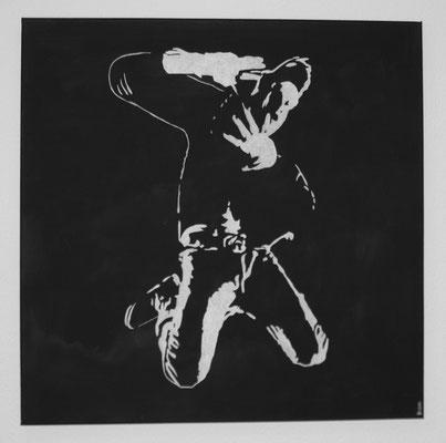 MAN B/W NO 2  Acrylpainting on canvas, ca. 70 x 70 cm