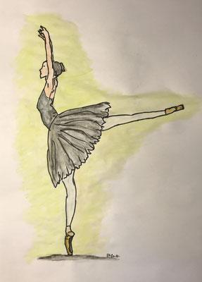 DANCING QUEEN  Acrylpainting on paper, ca. 21 x 29 cm