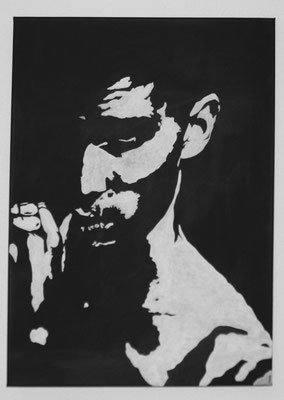 PORTRAIT OF MEN NO 4  Acrylpainting on canvas, ca. 50 x 70 cm