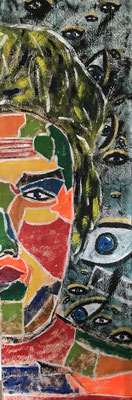 ABSTRACT PORTRAIT NO 2  Acrylpainting on canvas, ca. 40 x 120 cm