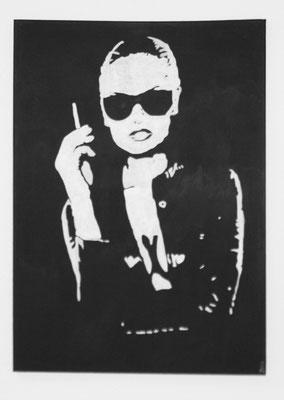 PORTRAIT OF WOMAN NO 3  Acrylpainting on canvas, ca. 50 x 70 cm