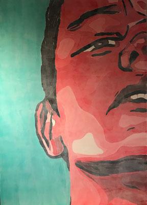FACE COLOURS NO 3  Acrylpainting on canvas, ca. 100 x 140 cm
