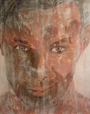 FROZEN PORTRAIT NO 1  Acrylpainting on canvas grain, ca. 42 x 56 cm
