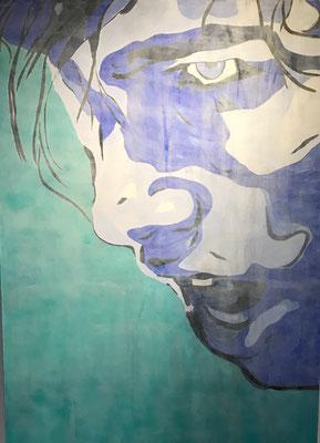 FACE COLOURS NO 4  Acrylpainting on canvas, ca. 100 x 140 cm