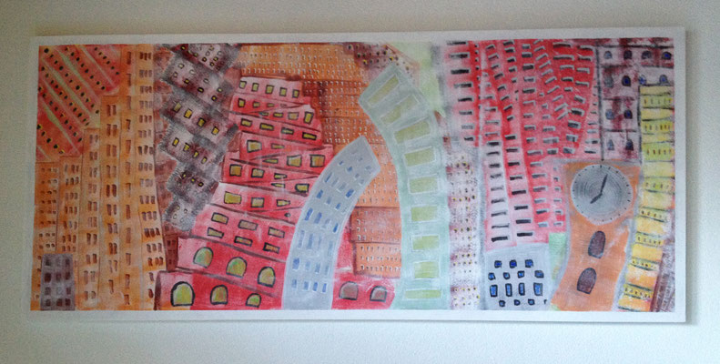 NATERS 2050  Acrylpainting on canvas, ca. 80 x 200 cm