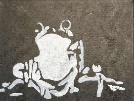 FROG  Acrylpainting on canvas, ca. 20 x 20 cm