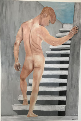 NUDE MAN NO 5  Oilpainting on canvas, ca. 60 x 90 cm
