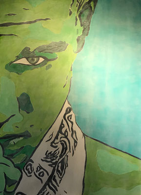 FACE COLOURS NO 2  Acrylpainting on canvas, ca. 100 x 140 cm