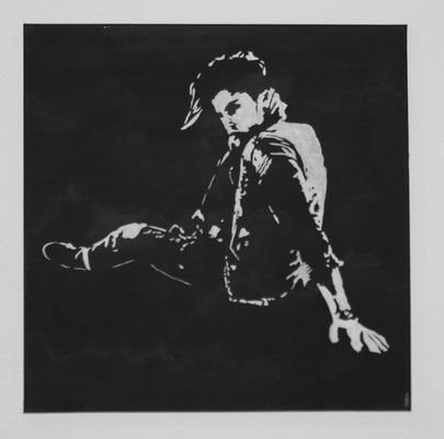 MAN B/W NO 1  Acrylpainting on canvas, ca. 70 x 70 cm