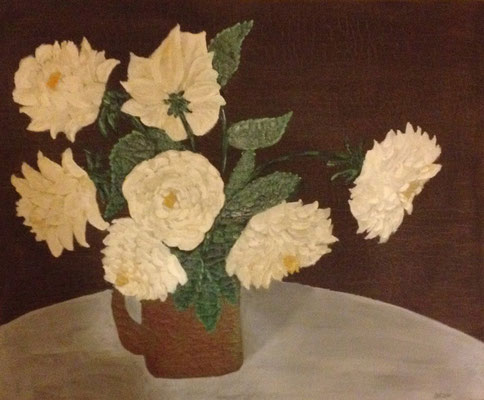 BOUQUET OF FLOWERS  Oilpainting on canvas, ca. 30 x 50 cm