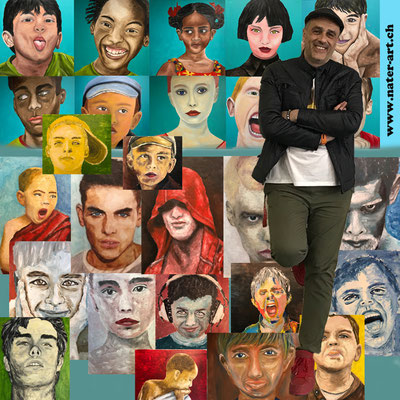 ME AND SOME OF MY PAINTINGS 2017
