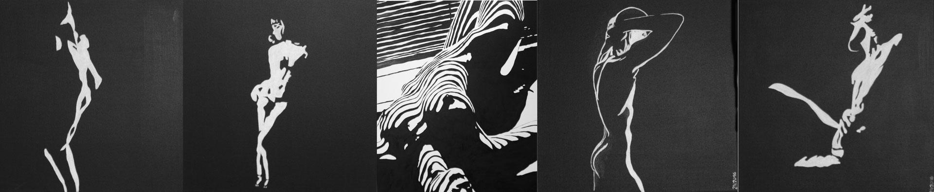 ZEBRAWOMAN  Acrylpainting on canvas, ca. 100 x 120 cm
