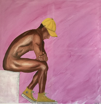 YELLOW CHUCKS  Oilpainting on canvas, ca. 70 x 70 cm