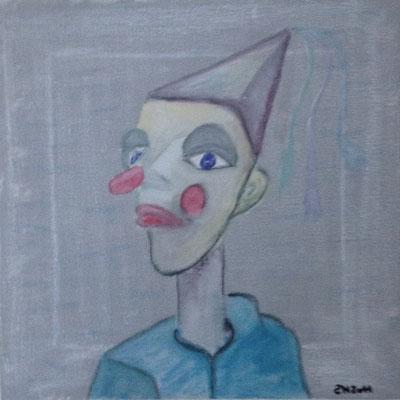 CLOWN NO 2  Acrylpainting on canvas, ca. 30 x 30 cm
