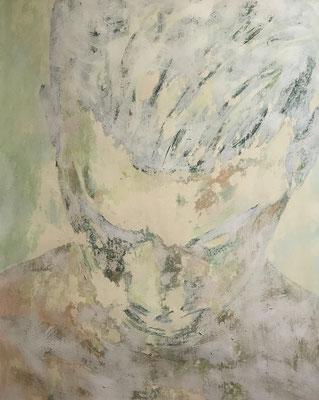 FROZEN PORTRAIT NO 3  Acrylpainting on canvas grain, ca. 42 x 56 cm