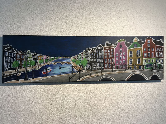 AMSTERDAM  Acrylpainting on canvas, ca. 20 x 70 cm
