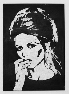 PORTRAIT OF WOMAN NO 6  Acrylpainting on canvas, ca. 50 x 70 cm