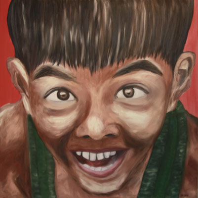 CHILD NO 1  Oilpainting on canvas, ca. 80 x 80 cm