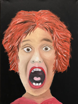 BAD HAIR DAY  Oilpainting on canvas, ca. 30 x 40 cm