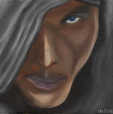 MAN  Oilpainting on canvas, ca. 20 x 20 cm