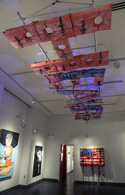We See Heaven Upside Down, 2017, Ross Gallery exhibition, installation view