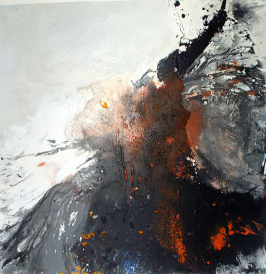 Explosive I  100 x 100 cm x 4 cm - 2016