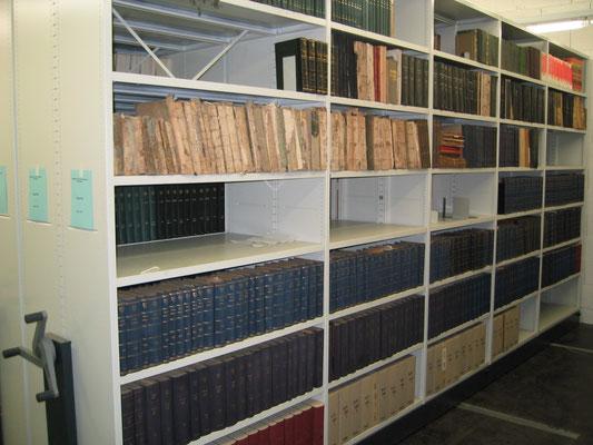 Fahrbares Regal für Bücher (Akte, Antikes)
