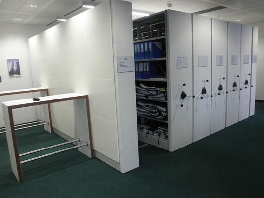 Verschieberegal Büro, verschiebbares Büroregal - Planung & Beratung - lagerconsulting.at