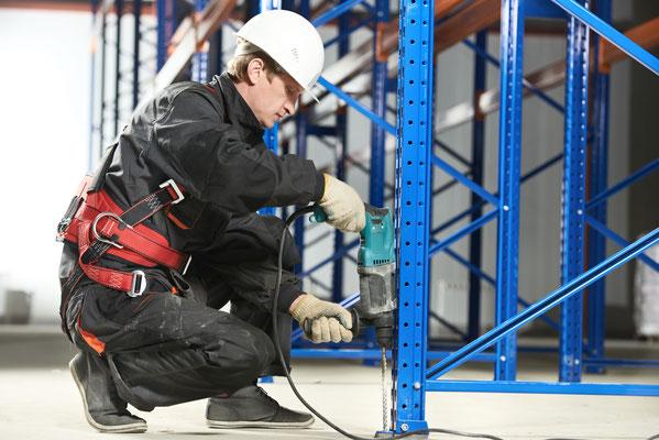 Regalschutz, Regalanfahrschutz, Regalmontage - Lagerconsulting wir reparieren Regale