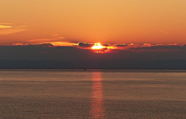 Sonnenuntergang im winterlichen Dalmatien